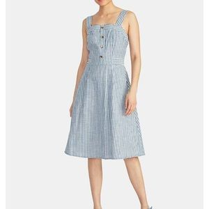 Navy stripped cotton dress by Rachel Roy